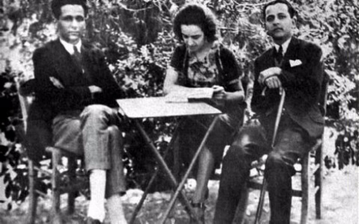 Η Μαρία Πολυδούρη με τον Κώστα Καρυωτάκη.